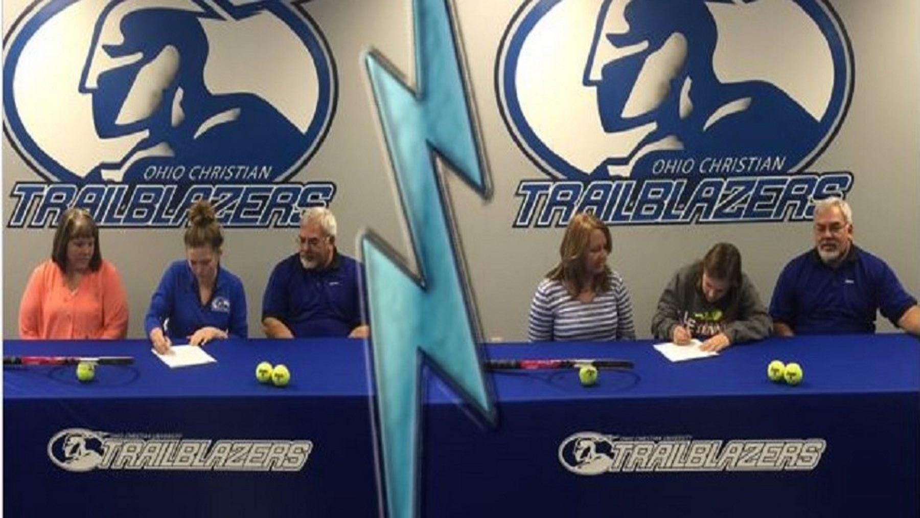 Emily Miller and Drayah Johnston sign with OCU Tennis
